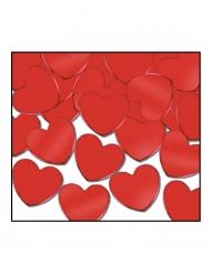 Confetis para mesa corazones rojos 28 g
