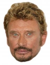 Máscara de cartón Johnny Halliday
