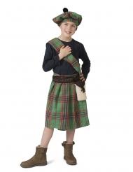 Disfraz Escocés verde niño