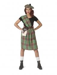 Disfraz escocés verde mujer