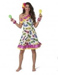 Disfraz vestido de piñas mujer