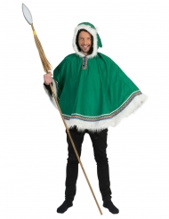 Poncho esquimal verde hombre