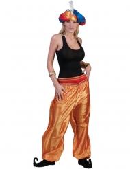 Pantalón dorado mujer