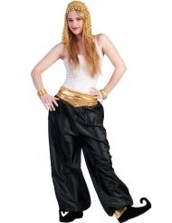 Pantalón negro amplio mujer
