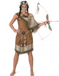 Disfraz vestido india lujo mujer