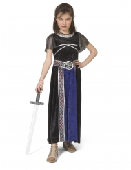 Disfraz vestido guerrera para niña