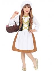 Disfraz sirviente de la Edad Media niña