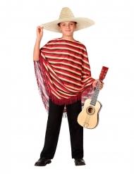 Disfraz de mexicano con poncho niño