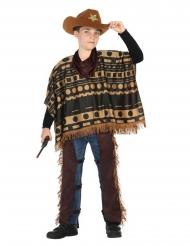 Disfraz de cowboy con poncho niño