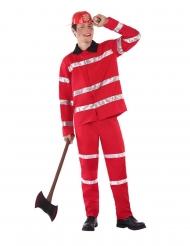Disfraz de bombero rojo adolescente