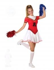 Disfraz de animadora pompom girl adolescente