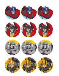12 Decoraciones de azúcar para galletas Transformers™ 5,8 cm