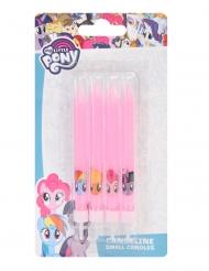 4 Velas de cumpleaños My Little Pony™ rosas 9 cm