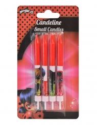 4 Velas de cumpleaños Ladybug™ rojas 9 cm