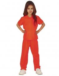 Disfraz prisionera naranja niña