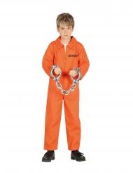 Disfraz de prisionero naranja niño