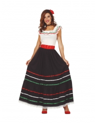 Disfraz mexicana largo mujer