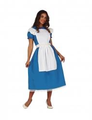 Disfraz señorita en un lugar imaginario azul mujer