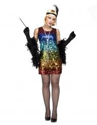 Disfraz Charlestón colorido mujer
