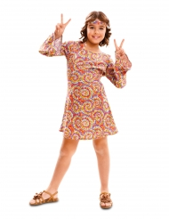 Disfraz hippie psicodélico niña