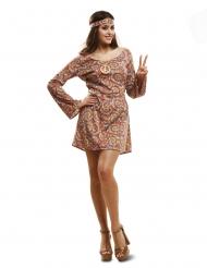 Disfraz hippie psicodélico mujer