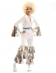 Disfraz fiebre de sábado por la noche blanco mujer