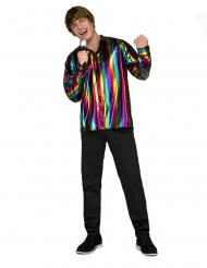 Camisa disco rainbow hombre