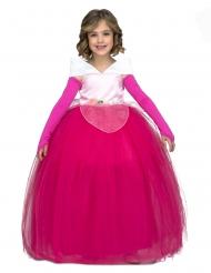 Disfraz princesa de baile rosa niña