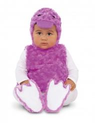 Disfraz patito peluche lila bebé