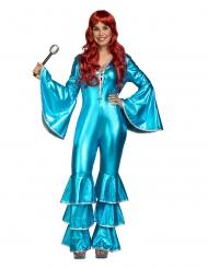 Disfraz de fiebre de sábado noche azul mujer