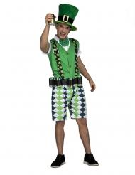 Disfraz de Irlandés con cinturón para cervezas adulto