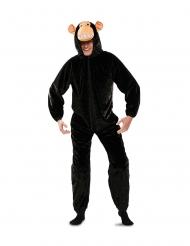 Disfraz chimpancé negro adulto