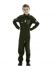 Disfraz piloto de avión de combate niño