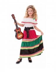 Disfraz mexicana colorida niña