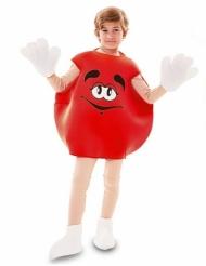 Disfraz de caramelo rojo niño