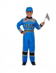 Disfraz piloto de formula 1 azul niño