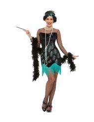 Disfraz años 20 pavo real mujer