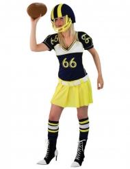 Disfraz jugadora fútbol americano amarillo mujer
