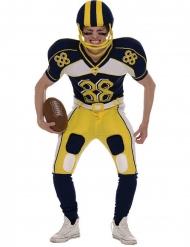 Disfraz de jugador fútbol americano amarillo hombre