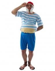 Disfraz capitán rayado hombre