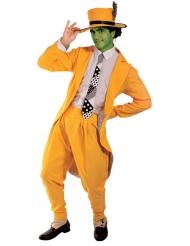 Disfraz comediante enmascarado verde hombre