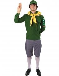 Disfraz scout verde hombre