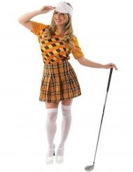 Disfraz jugadora de golf naranja mujer