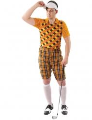 Disfraz de jugador de golf naranja hombre