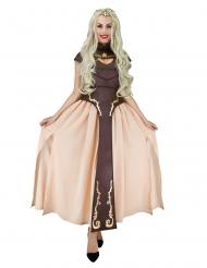 Disfraz princesa medieval marrón mujer
