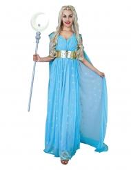 Disfraz princesa medieval azul mujer