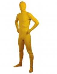 Disfraz adulto segunda piel amarillo adulto