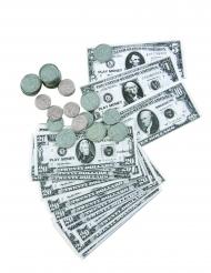 Kit dólares billetes y monedas
