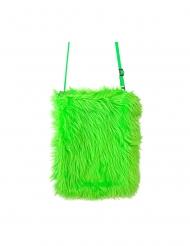 Bolso peluche verde fosforito
