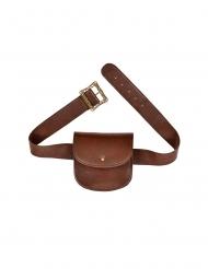 Bolsa de mensajero cuero marrón